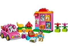 Drive to the shop and buy lots of groceries!- LEGO