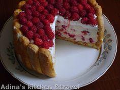 Adina's kitchen & travel: Raspberry cake and yogurt Romanian Desserts, Romanian Food, Romanian Recipes, My Recipes, Cookie Recipes, Favorite Recipes, Recipies, Good Food, Yummy Food