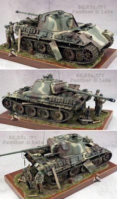 """二战德国""""黑豹""""中型坦克G型【35比例】"""