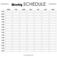 Time Sheet Printable, Schedule Printable, Schedule Templates, Printable Planner, Chore Chart Template, Weekly Planner Template, Printable Templates, Weekly Schedule Planner, Planner Ideas
