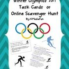 I have provided this activity to  introduce students to the Winter Olympics 2014 in task cards form or as an online scavenger hunt. You can choose ...