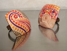 Rings by MATHILDE COLAS   Polymer Clay Planet