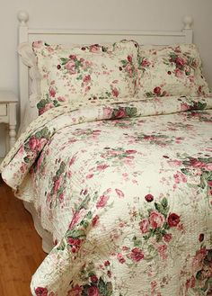 Romantic Shabby Chic Quilts - perfect with crocheted lace afghan