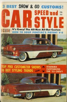 Car Speed and Style Magazine Feb 1959 hot rod drag race chevy ford merc