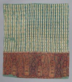 Shawl. India (Kashmir), late 18th to early 19th century. Kashmir, India. Wool twill tapestry - in the Museum of Fine Arts Boston.
