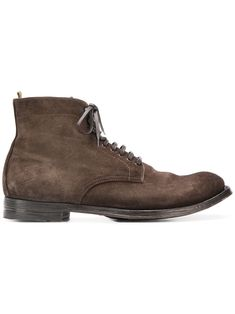 Officine Creative Anatomia Derby Boots In Brown Suede Boots, Men's Boots, Mens Designer Boots, Mens Brown Boots, Officine Creative, Stitching Leather, Derby, Lace Up, Man Shop