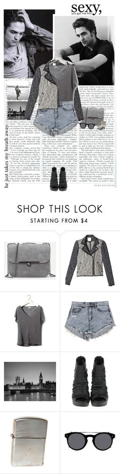 """""""Robert Pattinson {he just takes my breath away}"""" by starrynight ❤ liked on Polyvore featuring Cullen, Rebecca Taylor, Pull&Bear, Christian Dior, Valentino, black, edgy, RobertPattinson, gray and blackandgray"""
