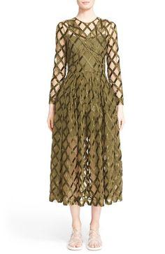 SIMONE ROCHA Rope Embroidered Tulle A-Line Dress. #simonerocha #cloth #