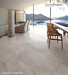 Carrelage Ciment Gris 60 x 60 cm naturel rectifié - HomeProject.fr