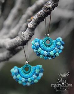 https://flic.kr/p/FJ4jsn | Pendientes de Crochet | Pendientes realizados a crochet - Crochet earrings ganchilo pendientes artesania complementos matraquillas mismatraquillas earrings handmade jewelry