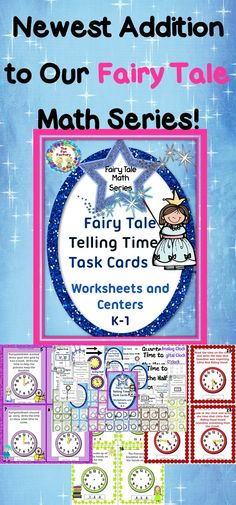 $ Telling Time with Fairy Tales Task Cards Time to hour, half-hour, and quarter hour for K-2.