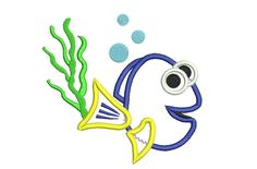Dory Embroidery Design Fish Embroidery Dory