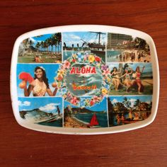 A personal favorite from my Etsy shop https://www.etsy.com/listing/228409634/vintage-hawaiian-melamine-kitch-catch