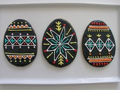 Pysanky cookies by Brett Bara. I have no patience for actually doing this but they are amazeball.
