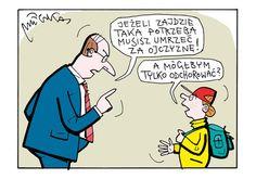 Rysuje Andrzej Mleczko - zdjęcie 10 - Polityka.pl Memes, Haha, Family Guy, Humor, Guys, Comics, Retro, Funny, Fictional Characters