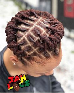 went to university with this talented loctician 🦄 Short Dread Styles, Dreads Styles For Women, Short Dreadlocks Styles, Curly Hair Styles, Dreadlock Styles, Natural Hair Styles, Locs Styles, Dreads Short Hair, Short Locs Hairstyles