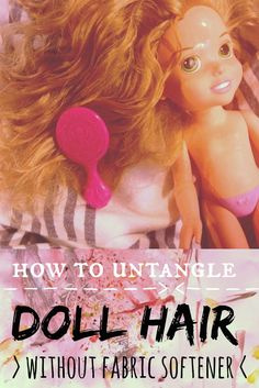 Untangle Doll Hair #video (without fabric softener!) + Smoothie Cubes // writing chapter three