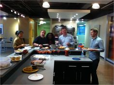Members of the Toronto team hosted a pot luck lunch in July!     Home-made samosas, canapés, noodle salads, shrimp rings, fresh fruit (and more snacks than anyone could ever need!).     Thanks everyone for a fun lunch!