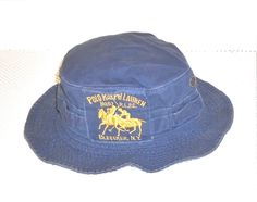 14eeff8868b Vintage Polo Ralph Lauren  3 Bleecker New York Horse Bucket Vented Hat L XL