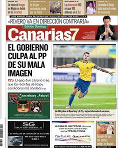 Los Titulares y Portadas de Noticias Destacadas Españolas del 5 de Mayo de 2013 del Diario Canarias 7 ¿Que le parecio esta Portada de este Diario Español?