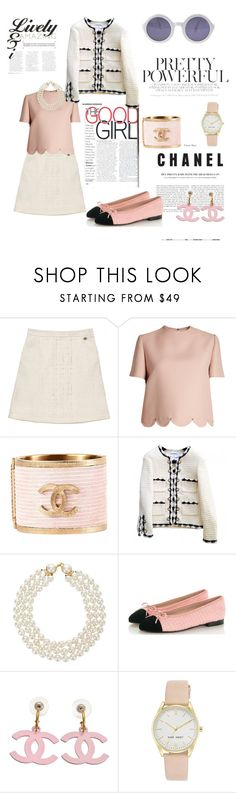 """the good Chanel girl"" by cristhyne-torres on Polyvore featuring moda, Chanel, Valentino e Nine West"