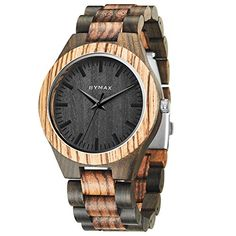 Watches Lower Price with Hotime Fashion Handmade Men Wooden Luxury Quartz Brand Women Dress Analog Watches With 2 Color Strap With Japan Movement As Gift To Adopt Advanced Technology