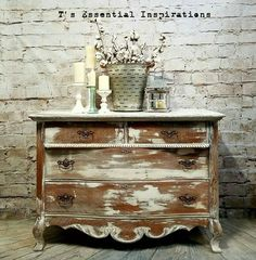 """Excellent """"shabby chic furniture diy"""" information is readily available on our website. Take a look and you wont be sorry you did. White Washed Furniture, Distressed Furniture, Shabby Chic Furniture, Vintage Furniture, Country Furniture, Vintage Wood, How To Clean Furniture, Paint Furniture, Furniture Makeover"""