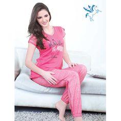 Juliet Night Suit - Pajamas and T-Shirt Night Suit, Capri Pants, Pajamas, Jumpsuit, Lingerie, Suits, Clothes For Women, T Shirt, How To Wear