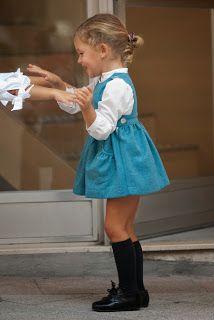 Girl's blue dress - No sin Valentina