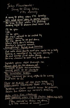 withnoone:  John Frusciante - Song To Sing When I'm Lonely
