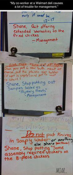 Shane from Wallmart