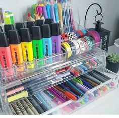 Cosmetic organizers for storing craft supplies