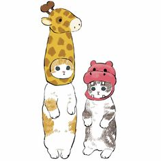 Ciao, Salut — par Mofusand Kitten Drawing, Cute Cat Drawing, Cute Animal Drawings, Cute Drawings, Arte Sketchbook, Dibujos Cute, Kawaii Art, Images Gif, Cat Art
