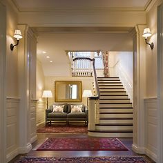 Love this staircase and entryway.