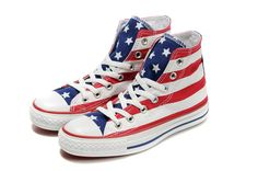 The flag of the United States, fashion classic designs, preferential price, just $40 More fashion converse canvas shoes are here