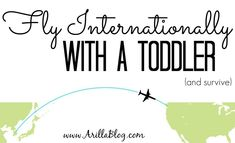 How to Fly Internationally With a Toddler and Survive | Arillablog.com