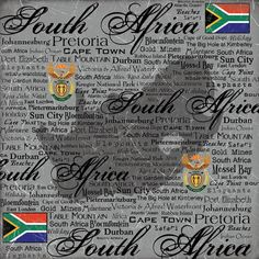Scrapbook Customs - World Collection - South Africa - 12 x 12 Paper - Scratchy at Scrapbook.com $0.81