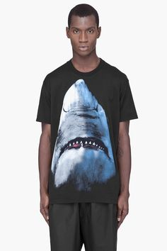 GIVENCHY Black Shark Print Oversized T-Shirt | Raddest Looks On The Internet http://www.raddestlooks.net