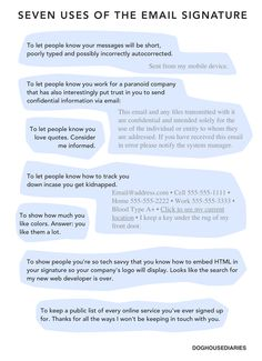 What your email signature says about you.