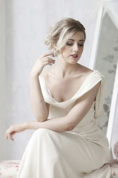 So sophisticated - New gown by Jen Doherty. Jasmine  - See more at: www.jendoherty.com  #couture #wedding gown # donegal