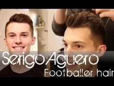 (like and share) Sergio Aguero footballer look - Men's hair tutorial