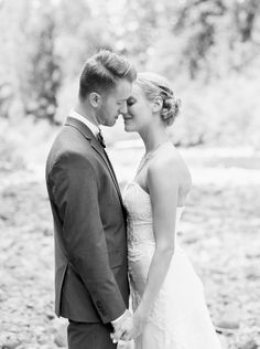 Bride and Groom Portrait in Black and White / Jessica Lyons Photography / Fine Art Wedding Photographer / Contax 645