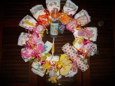 Diaper wreath for the upcoming fall events of friends