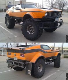 Lifted Mustang with Boggers. I don't really like mustangs but this one is cool. I'd love to make a Camaro like this. 4x4 Trucks, Custom Trucks, Cool Trucks, Custom Cars, Monster Car, Monster Trucks, Lifted Cars, Sweet Cars, Amazing Cars
