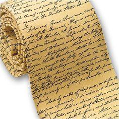 Emancipation Procalmation – Men's Silk Necktie in Gold  http://www.yourneckties.com/emancipation-procalmation-mens-silk-necktie-in-gold/