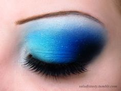 #Drama #Blue... #Theatrical #creative #makeup  ::)