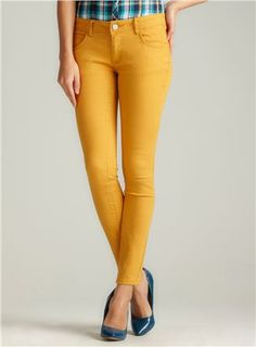 Romeo Couture MUSTARD SKINNY COLOR DENIM were $138 now $39.99 #Deal #Fashion