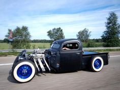 Hot Rod Truck - I want that wheel combo for my T Bird