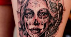on left crying clown tattoo crying clown tattoo henna tattoo designs Catrina Tattoo, Clown Tattoo, Tattoo On, New Tattoos, Tribal Tattoos, Small Tattoos, Girl Tattoos, Tattoos For Women, Black And Grey Tattoos
