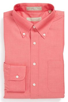 Wrinkle Free Traditional Fit Pinpoint Dress Shirt